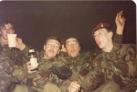 Men of 4 PARA enjoy a good night at Hameln, Germany, 1982