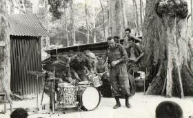 Acker Bilk with music for the Troops, Sarawak, Borneo, 1964