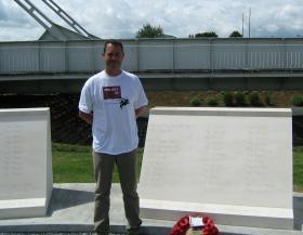 Adam Phillippo at the Memorial to Pegasus Bridge, June 2009