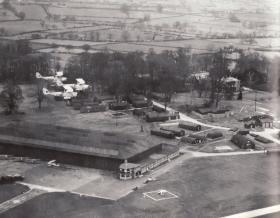 Aerial view of RAF Burnaston, nr Derby