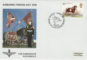 1978 Airborne Forces Day Commemorative Cover with Regimental Mascot
