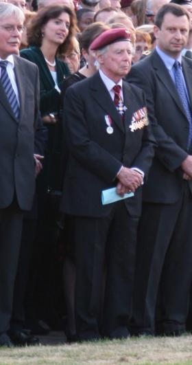 Leader of Arnhem Veterans Sir James Cleminson at the Airborneplein commemoration, Arnhem, 2009