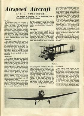 Article on Airspeed Aircraft including Horsa reproduced from Air Training Corps Gazette, Sept 1944