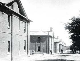 Photo of Albuhera Barracks, Aldershot during the 1950s.