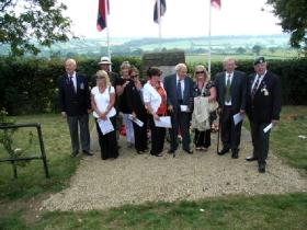 Group Photo at Double Hills Memorial Service including relatives of L/Sgt Allen and Sgt Fraser