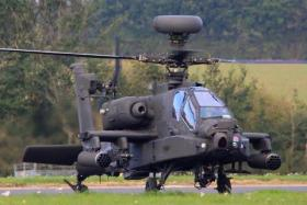 An Apache AH of 4 Regt AAC taxis out for a training sortie, Wattisham, Oct 2010