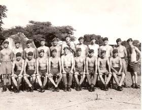 Group portrait of B Coy, 2 Para, Anguilla, 1969