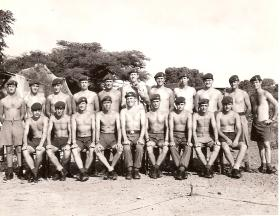 Group portrait of B Coy, 2 Para, Anguilla, 1969