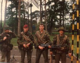 B Company NCO's, 4 Para, c.1984