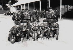 Members of B and D Company, 4 Para, Cambrian March circa 1978