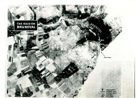 Aerial photo showing main objectives of Bruneval raid and DZ, undated.