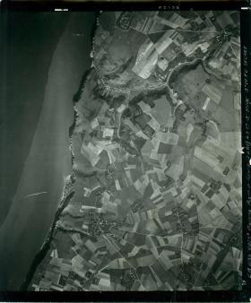 Aerial photo of Bruneval raid area taken for anniversary drop 1958.