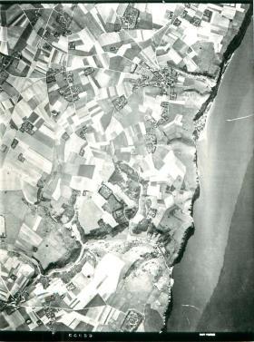Aerial photo of the Bruneval raid area.