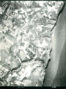 Aerial photo of the Bruneval raid area.