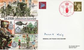 Operation Banner Commemorative Cover signed by Gen Sir Frank King