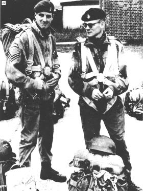 Barry Hirst and Graham Cox before a training exercise