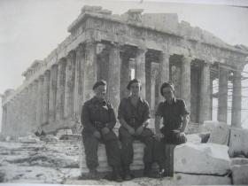 Soldiers of 4 Para at the Parthenon, Athens, early January 1945