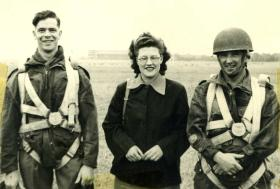 Neville 'Bill' Griffin, with friends Joan and Bert Vosper REME, Germany, 1948-9