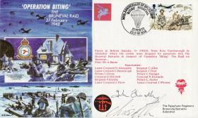 Bruneval Commemorative Cover 1992, signed by John Timothy, Rodney Section Commander.