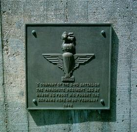Bruneval Memorial Plaque