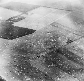 Aerial photo of DZ 'X' on 17 September 1944