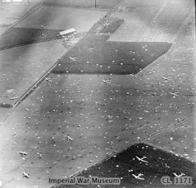 Aerial photo of Arnhem DZ 'X' 17 September 1944