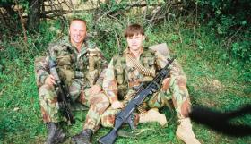 Tom Blakey and Bryan Budd shortly after insertion into Kosovo