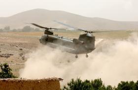 Chinook landing in Zabul Province, June 2008