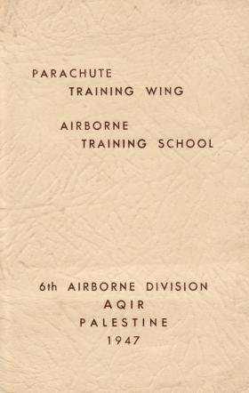 Christmas Card from Parachute Training Wing, Airborne Training School, Aqir, Palestine, 1947