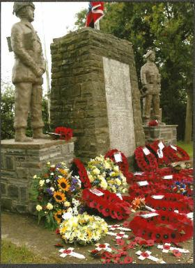 Close-up of refurbished Double Hills Memorial