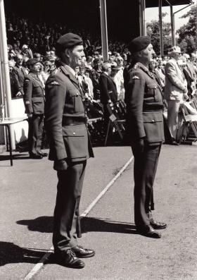 Col Edward Gardener and Gen Geoffrey Howlett, Airborne Forces Day,1988