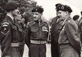 Colonel Darling with  Field Marshal Montgomery during a visit to the Airborne Forces Depot, 1949