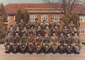 Group Passing Out photograph Combat Medic Course, Longmoor, April 1984