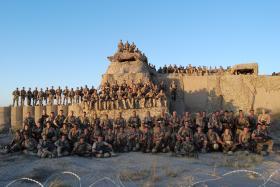 Group photo of C (Bruneval) Coy, 2 PARA, Afghanistan, September 2008