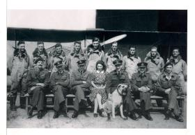 Group photograph of pilots course at Booker EFTS, July 1942