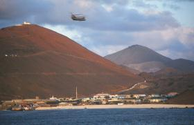 Cross decking of supplies at Ascension Island