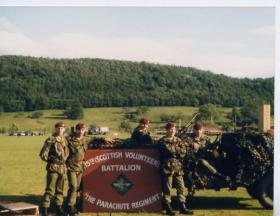 Men of 15 PARA at Culttybraggen Camp, 1989