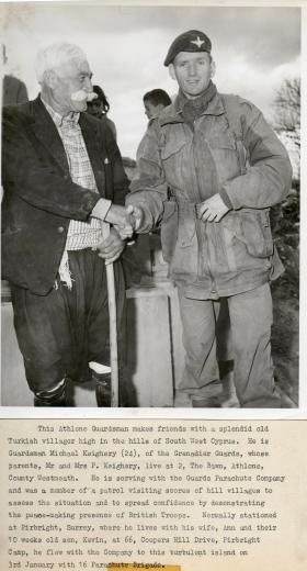 Meeting local Turkish Cypriots in Cyprus, Jan 1964