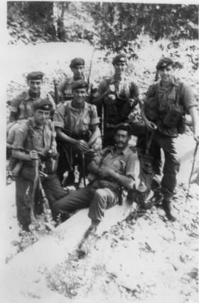 Informal group portrait of 3 Section, 12 Platoon, D Company, 1 Para, Cyprus, 1956