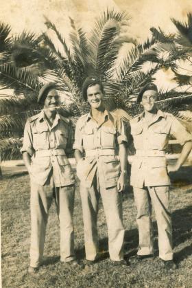 Ken Edwick with pals, Palestine
