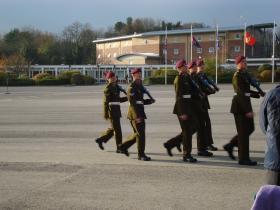 Oudna Platoon Pass off parade Depot Para