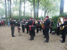 Parachute Regiment Band at Arnhem 65th anniversary memorial service 2009