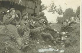 93 (Airborne) Coy breakdown team at rest in Italy