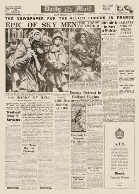 Daily Mail Front Cover September 28 1944
