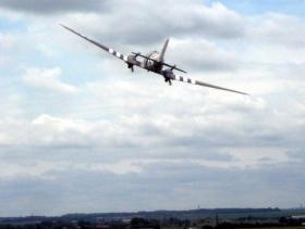 Dakota low-level flypast at Normandy DZ-K, June 2010