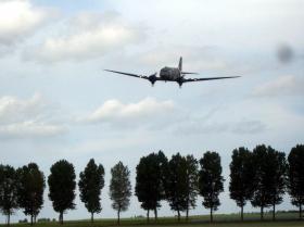 Dakota low-level Flypast at DZ-K in Normandy, June 2010