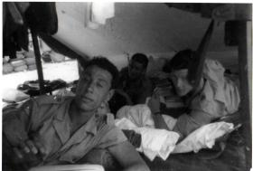 Soldiers of Guards Para Anti-Tank Patrol at rest in Greece, 1962