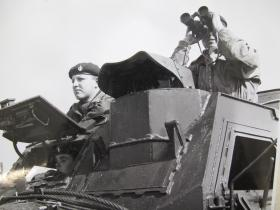 Detailed view of crew and gunners position on Humber Hornet
