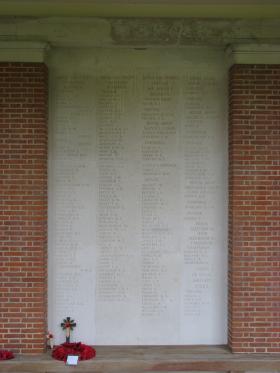 Panel 9 of the Groesbeek Memorial.