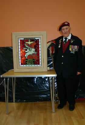 Unveiling of the El Gamil Memorial stained glass at Dial Post, West Sussex, 22 August 2010
